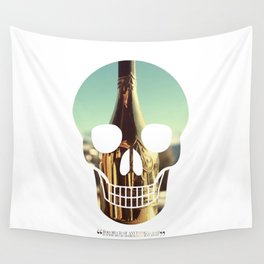 """""""Too much of anything is bad, but too much Champagne is just right"""" Wall Tapestry"""