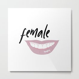 female Metal Print