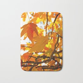 Autumn Leaves in New York City Bath Mat