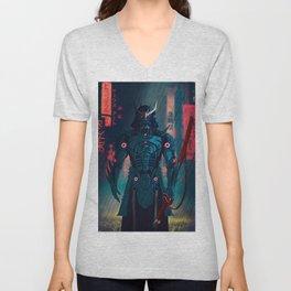077 Samurai 2077 Unisex V-Neck