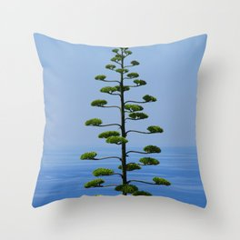 Pine Tree Before the Sea Throw Pillow