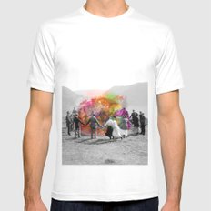 Conjurers MEDIUM White Mens Fitted Tee