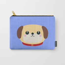 Cute puppy Dog with red collar Carry-All Pouch