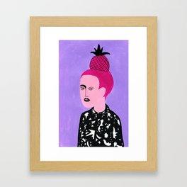 Pineapple hair Framed Art Print