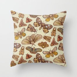 Moth Pattern Throw Pillow