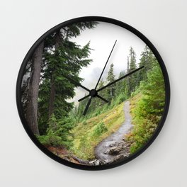 Alpine Ridgeline Trail Woods Forest Mountain Mist Washington Mount Baker Northwest Outdoors Nature W Wall Clock