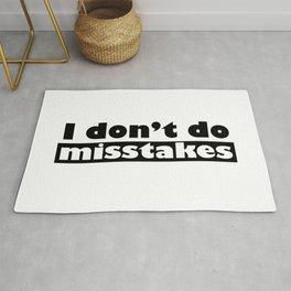 Irony I Don't Do Mistakes Rug