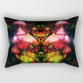Rainforest Pink Mushroom Rectangular Pillow