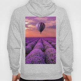 Lavender and hot air balloon Hoody