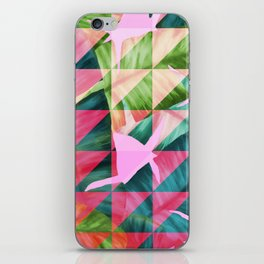 Abstract Hot Pink Banana Leaves Design iPhone Skin