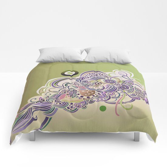 Detailed diagonal tangle Comforters