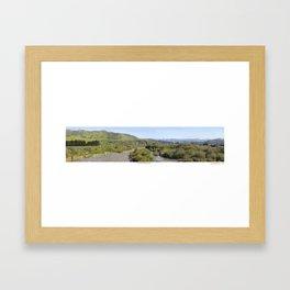 Ventura River Valley Framed Art Print