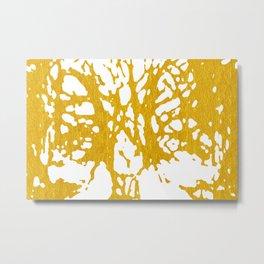 Gold Abstract IX Metal Print
