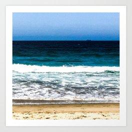 """""""Layers"""" Sand Beach Waves Ocean Sky Art Print"""