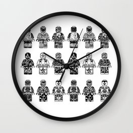 leggo man #3 Wall Clock