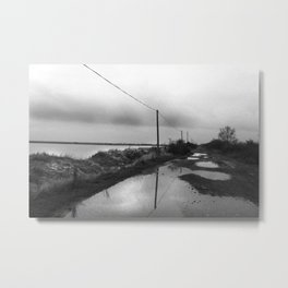 Flooded Route Metal Print