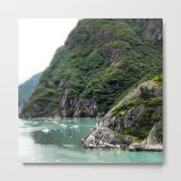 Mountain Meets the Ocean Metal Print