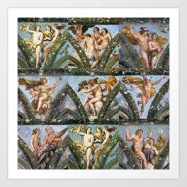 """Raffaello Sanzio da Urbino """"The Loggia of Psyche"""", 1517-18 Art Print"""