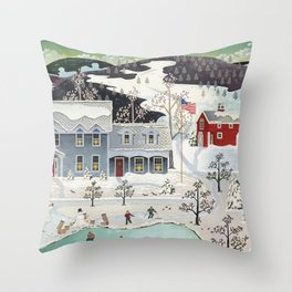 O'Keefe Family Vermont Home Throw Pillow