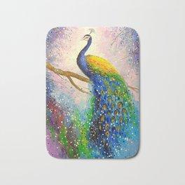 Gorgeous peacock Bath Mat