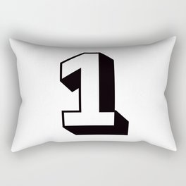 Lucky Number One ... 1 Rectangular Pillow