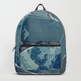 Hokusai Meets Fibonacci, Golden Ratio #2 Backpack