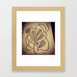 Brat Doll Art - Swirls and Ivy Ribbons Framed Art Print