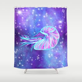 The Celestial Chambered Nautilus Shower Curtain
