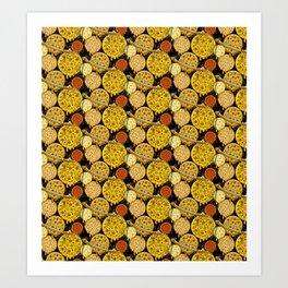 Pizza Planets Art Print