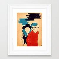 annie hall Framed Art Prints featuring Annie Hall by Roland Lefox