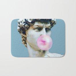 The Statue of David (Michelangelo) with Bubblegum Bath Mat