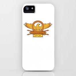 SPQR Roman Eagle Legion Standard Ancient Rome iPhone Case
