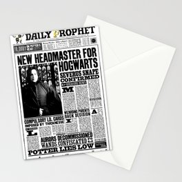 "Daily Prophet ""NEW Head Master, Severus Snape"" Stationery Cards"