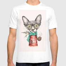 Mr.Peterbald MEDIUM White Mens Fitted Tee