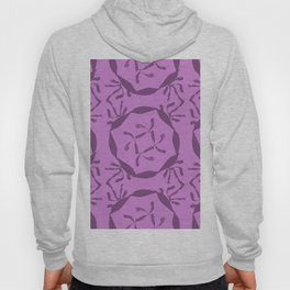 Beige round of leafs in violet and magenta mix #432 Hoody