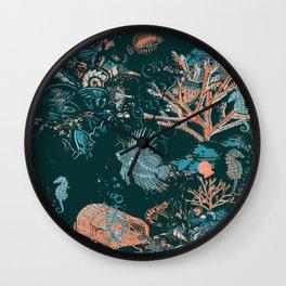 Coral Aqua Life Wall Clock