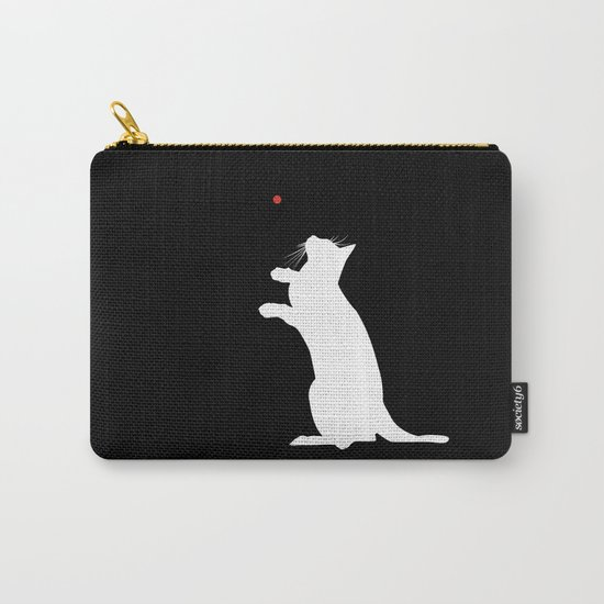 Cat and Laser Cute Minimalistic Animal Portrait Carry-All Pouch