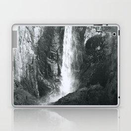 Bridalveil Falls. Yosemite California in Black and White Laptop & iPad Skin