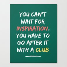 Go After Inspiration With A Club Canvas Print