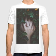 Hands Nature MEDIUM White Mens Fitted Tee