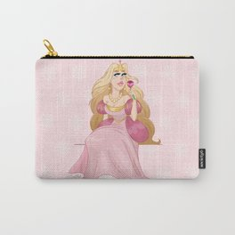 Blond Princess Smells A Rose Carry-All Pouch