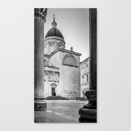 Early morning visitor Canvas Print