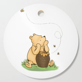 Classic Pooh with Honey - No background Cutting Board