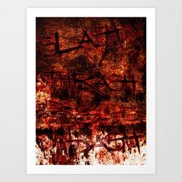 Slash thrash & dash Art Print