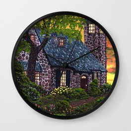 Essex House Lighthouse by Ave Hurley  Wall Clock