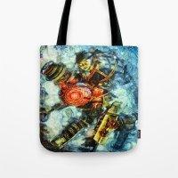 bioshock Tote Bags featuring Bioshock Big Sister by Joe Misrasi