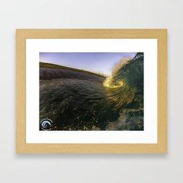 Sunset Slab Framed Art Print