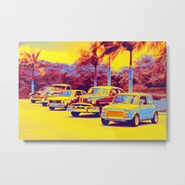 Five Parked gradient neon coloring by Ahmet Asar, Asar Studios Metal Print