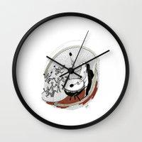 drum Wall Clocks featuring Drum dancers by Vilnis Klints