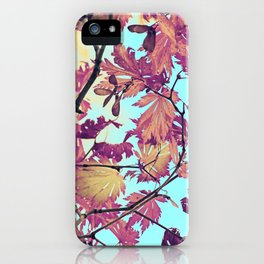 Japanaese Tree with hänging nouses in the Sun iPhone Case